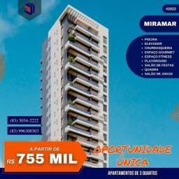 Apartamento para Venda em João Pessoa, Miramar, 3 dormitórios, 2 suítes, 2 banheiros, 2 va