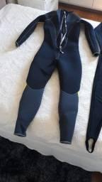 Macacão para mergulho neoprene 5mm Cressi Castoro feminino + Lycra Skin