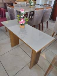 Título do anúncio: mesa aparador 100% mdf com vidro laqueado