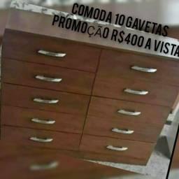 Título do anúncio: LINDA CÔMODA C/ 10 GAVETAS R$400.00 A VISTA OU 10X 43.00 C.CREDITO