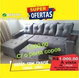 Título do anúncio: Sofá com CHAISE entrega em toda Goiânia