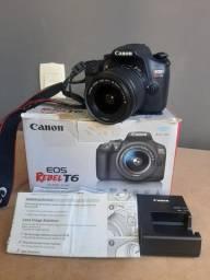 Título do anúncio: Camera Canon T6 Impecável