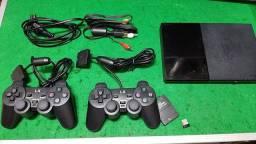 Título do anúncio: PS2 com 2 controles