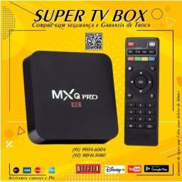 Título do anúncio: Tv Box MxQ Pro, Wi FI 256GB, 5G; Já configurado só ligar e usar