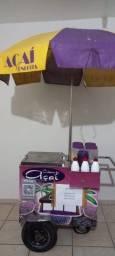 Título do anúncio: carrinho de açaí com placas de gelo