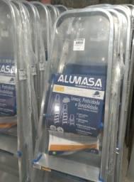 Título do anúncio: Escada Alumínio Residencial de 3 a 8 degraus Alumasa