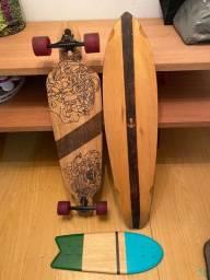 Skate lomgboard + 1 shape extra