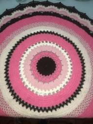 Título do anúncio: Tapete redondo de crochê / tapete mandala (não faço entrega)