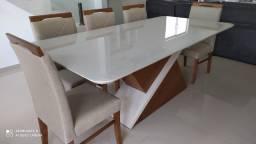 Título do anúncio: Sala de jantar nova completa pintura laka e madeira 8 lugares