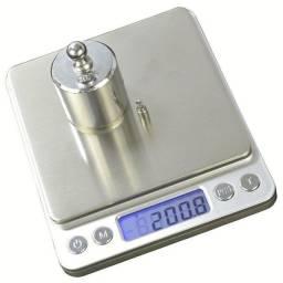 Mini Balança Digital De Precisão 1g-2kg Com 2 Bandejas
