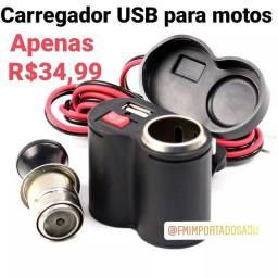 Carregador USB p/ moto Celular. ENTREGA GRÁTIS  AJU