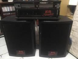 Título do anúncio: Conjunto, caixas de som, potencia e equalizador