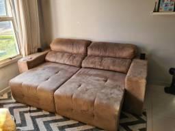 Sofá retrátil e recinável - Usado em bom estado