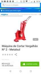 Título do anúncio: Máquina cortar ferro n° 2 corta até 3/4