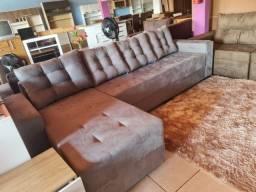 Título do anúncio: Promoção sofá Confort 4lugar sendo um cama almofadas solta