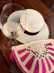 Bolsa praia + chapéu