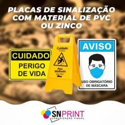 Placas de Sinalização com Material de PVC ou Zinco