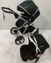 Carrinho de bebê 3 em 1 novo estrutura de alumínio leve e compacta