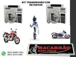 Kit Relação Transmissão Fazer 250 Riffel Com Retentor 1045