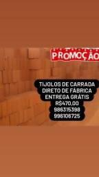 Título do anúncio: Tijolos De Carrada Super Oferta