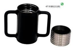 Copo e caneca para Estronca Metálica de Ferro  Ajustavel