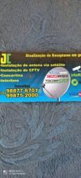 Instalação de antena via satélite