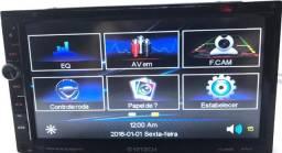 Central Multimídia DVD Player 7 Polegadas com GPS e Espelhamento