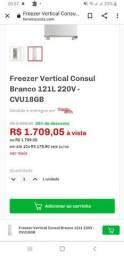 Título do anúncio: Freezer slim consul
