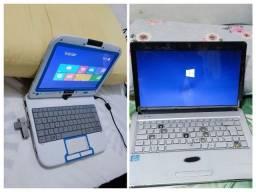 Título do anúncio: 2.Dois notebook positivo i3 e o outro notebook tablet