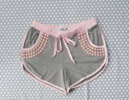 Shorts com pérolas