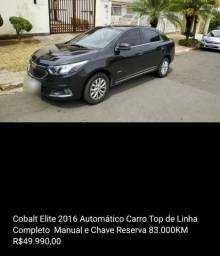 Cobalt Elite 1.8 Automático Flex Completo 4P Preto - 2016