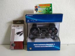 Controle Ps3 modelo Sony + Cabo carregador