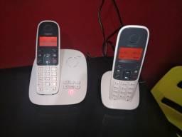 Telefone sem fio com secretaria eletrônica + ramal