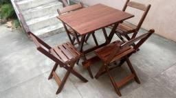 Mesas e Cadeiras Dobráveis para bar