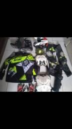 Kit de equipamentos para Trilha e Motocross