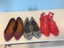 Sapatilhas lindas e sandália Melissa e Santa Lolla