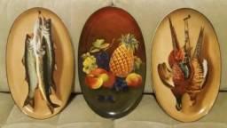 Pratos Travessas Decorativas Porcelana Portuguesa Antiguidade Século XIX