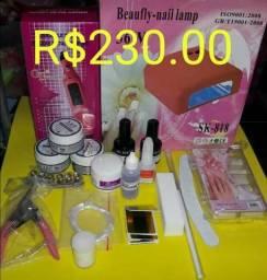 Kit completo para alongamento de unhas/cosméticos e esmalteria