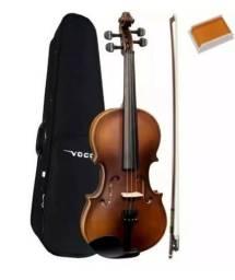 Violino 3/4 Vogga Envelhecido Fosco Estojo-arco-breu