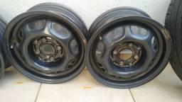 Jogo rodas aro 13 linha Volkswagen Vendo ou troco por som