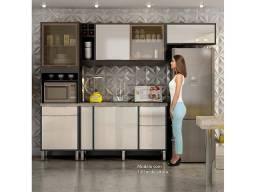 Cozinha Completa 4 Peças Ágata Grafite/Off White ? Chf Móveis