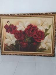 Quadro, Rosas Vermelhas e Brancas