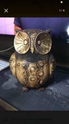 Coruja Decorativa De Porcelana
