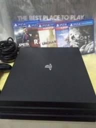 Título do anúncio: Playstation 4 Pro - Super Conservado - 5 Jogos( 3 Exclusivos)