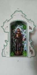 Título do anúncio: Oratorio médio mdf decorado com imagem de resina Sao Francisco por= 55,00