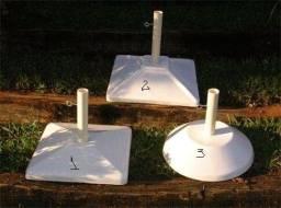 Base de sobrinha ombrelones fibra pesada apartir