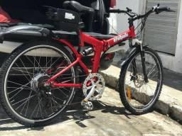 Bicicleta elétrica importada dobrável