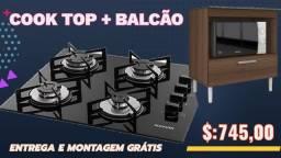Título do anúncio: Cooktop Suggar 4 BCS + Balcão Pop Só Hoje Entregamos e Parcelamos no Cartão