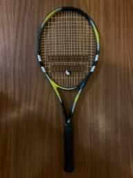 Raquete de tenis Babolat com capa e bolinhas