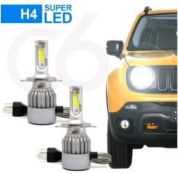 Lâmpada h4 LED 7200 Lumens para carro ou moto
